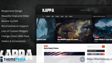 Kappa – A Gaming WordPress Theme [Free download]