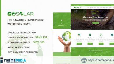 GoSolar – Eco Environmental& Nature WordPress Theme [Free download]