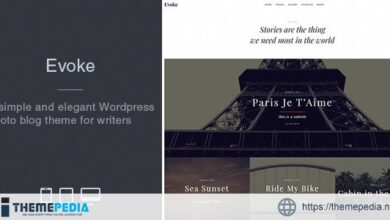 Evoke – Photo Stories WordPress Blog Theme [Free download]