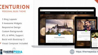 Centurion – WordPress Blog Theme [Free download]