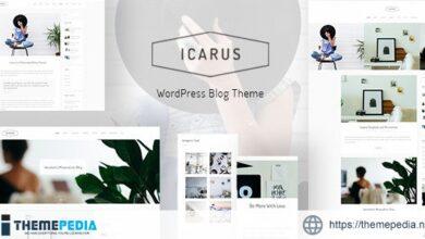 Icarus – Personal Blog WordPress Theme [Free download]
