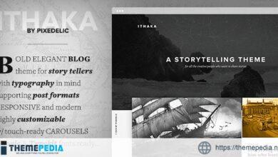 Ithaka Responsive WordPress Blog Theme [Free download]