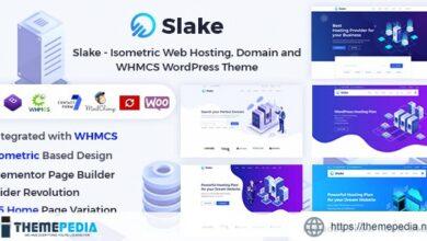 Slake – Isometric Web Hosting, Domain and WHMCS WordPress Theme [Updated Version]
