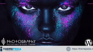 FullScreen Artist – Portfolio, Photography WordPress Theme [Free download]