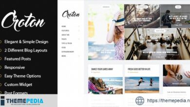 Croton – Simple And Clean WordPress Personal Blog Theme [Free download]