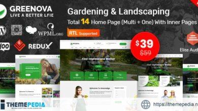Greenova – Gardening & Landscaping WordPress Theme [Free download]