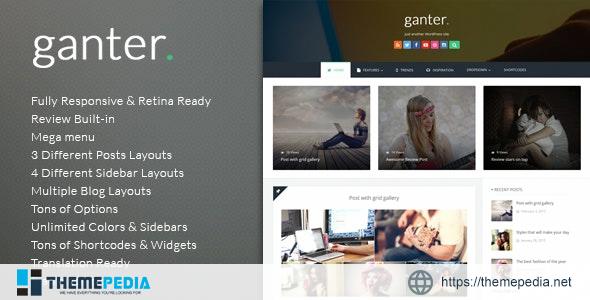 Ganter – Responsive WordPress Blogging Theme [Free download]