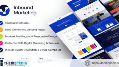 Inbound Marketing – Inbound, Landing Page WordPress Theme [Free download]