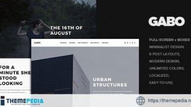 Gabo – Minimalist & Full-Screen WordPress theme [Updated Version]