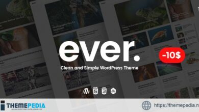 Ever – Clean and Simple WordPress Theme [Free download]