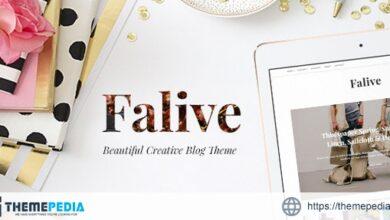 Falive – Beautiful Creative & Fashion Blog Theme [nulled]