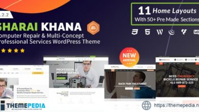 Sharai Khana – Computer Repair & Multi-Concept Professional Services WordPress Theme [Free download]