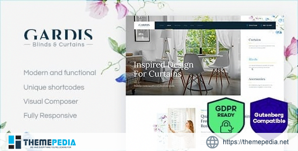 Gardis – Blinds and Curtains Studio & Shop WordPress Theme [Free download]
