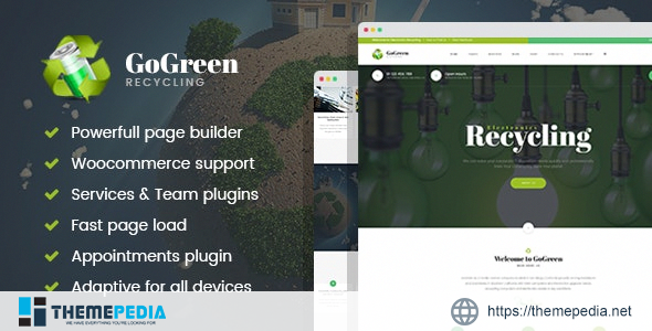 GoGreen – Waste Management and Recycling WordPress theme [Updated Version]
