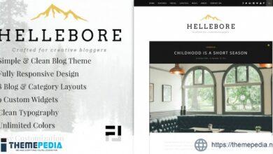 Hellebore – A Responsive WordPress Blog Theme [Latest Version]