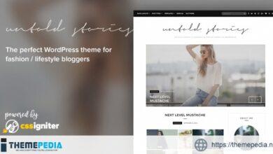 Fashion Blog Theme – Untold Stories [Latest Version]