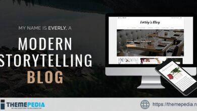 Everly Blog – A Responsive WordPress Blog Theme [Free download]