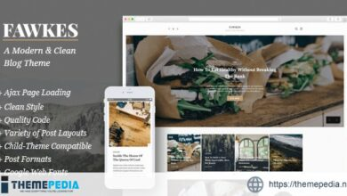 Fawkes – A Modern & Clean Blog Theme [Free download]