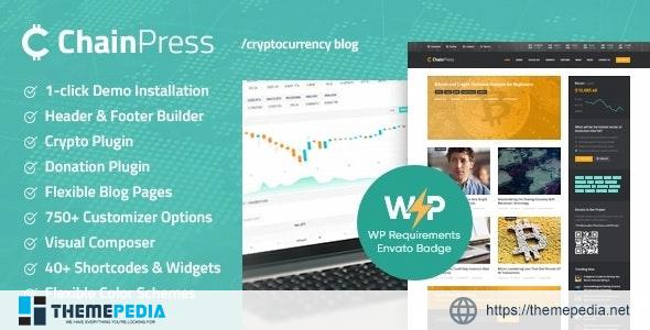 ChainPress – Financial WordPress Business Blog Theme [nulled]