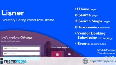 Lisner – Modern Directory Listing WordPress Theme [Updated Version]