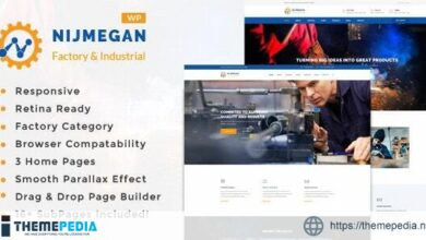 Nijmegan – Factory and Industrial Business WordPress Theme [Updated Version]