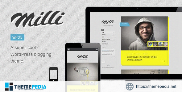 Milli Responsive Blog WordPress Theme [Free download]