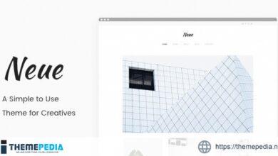 Neue – A Simple Portfolio Theme [nulled]