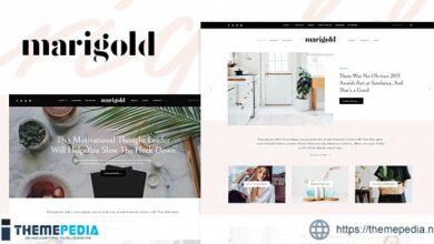 Marigold – A WordPress Blog & Shop Theme [Free download]