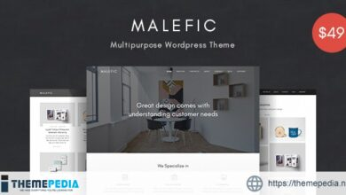 Malefic – Multipurpose One Page Responsive WordPress Theme [Free download]
