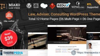 Miako – Lawyer & Law Firm WordPress Theme [Free download]