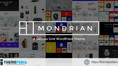 Mondrian – A Serious Grid WordPress Theme [Free download]