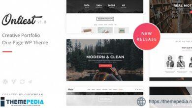 Onliest – Creative Portfolio One Page WP Theme [Free download]