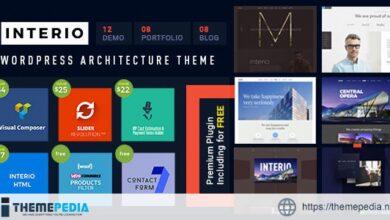 Interio — Architecture WordPress Theme [Free download]
