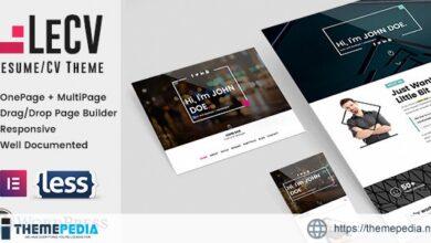 LeCV – Creative Responsive Resume – CV WordPress Theme [Free download]