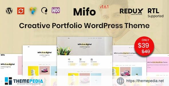 Mifo – Creative Minimal Portfolio WordPress Theme [Free download]