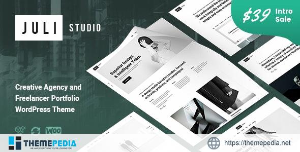 JuliStudio – Portfolio & Agency Theme [Free download]