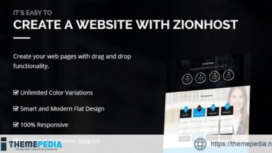 ZionHost – Web Hosting, WHMCS and Corporate Business WordPress Theme [Free download]