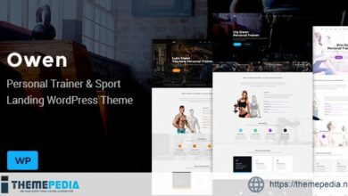 Owen – Personal trainer & SportOne Page Landing WordPress theme [Updated Version]