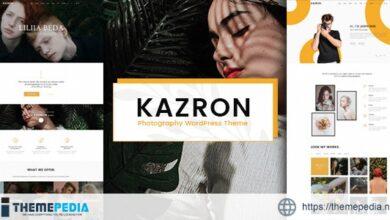 Kazron – Photography WordPress Theme [Free download]