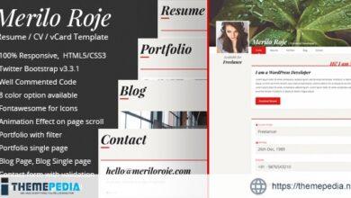 Merilo Roje – Resume – CV WordPress Theme [Latest Version]