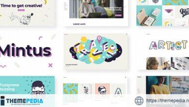 Mintus – Illustration Portfolio Theme [Free download]
