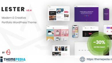 Lester – Creative Portfolio WordPress Theme [Updated Version]
