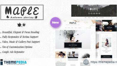Maple – Responsive WordPress Blog Theme [Free download]