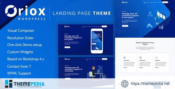 Oriox – WordPress Landing Page [Updated Version]