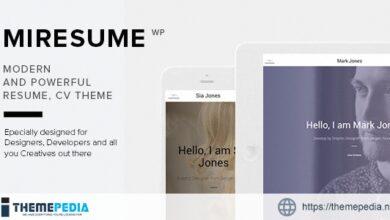 Miresume – Resume, CV & Portfolio WordPress Theme [nulled]