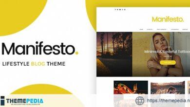 Manifesto – Lifestyle Blog WordPress Theme [Free download]