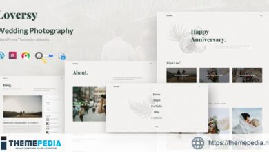 Loversy – Wedding Photography WordPress Theme [Latest Version]
