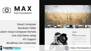 Max Photograpy – WordPress Theme for Photographers [Free download]