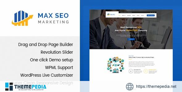 Max Seo – Seo & Marketing WordPress Theme [Free download]