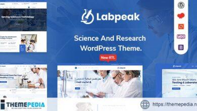 Labpeak – Laboratory & Science Research WordPress Theme [Free download]